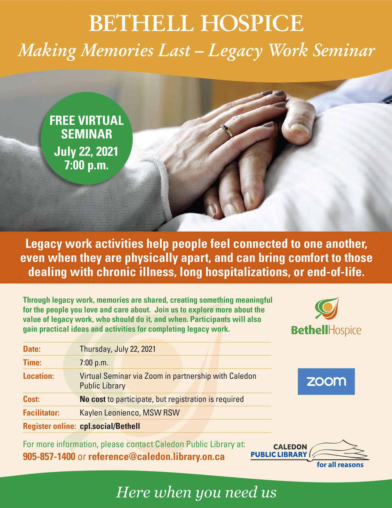 Making Memories Last Seminar